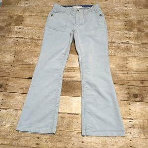 Light Blue Flare Boot Cut Corduroy Pants